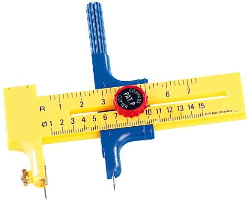 Your Design Schneidezirkel: 2in1-Rundschneider und Zirkel mit Ersatzklingen & -minen, bis 15 cm (Zirkel mit Messer)
