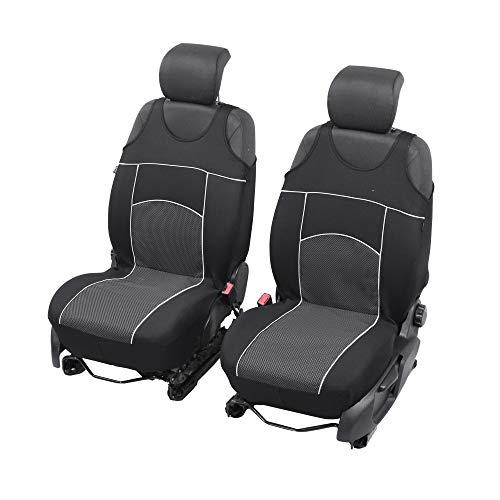 Universelle Sitzbezüge Tuning EXTRA kompatibel mit Subaru XV Sitzauflage Überzüge Schonbezüge Vordersitze SCHWARZ