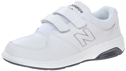 New Balance womens 813 V1 Hook and Loop Walking Shoe, White, 8.5 Wide US