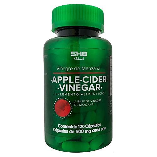 5H8 Nutrition Apple Cider Vinegar | 120 Cápsulas | 400 mgs De Vinagre De Sidra...
