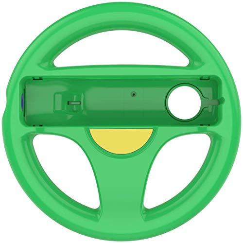 DOYO 1 Pack Grün Wheel Lenkung Wii Controller Design Stand Mario Kart Rennspiel Lenkradständer für Wii Game Controller