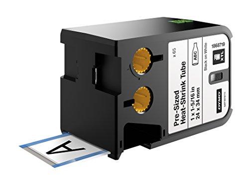 DYMO XTL Vorkonfektionierter Schrumpfschlauch (24 mm x 34 mm) - Schwarz auf Weiß