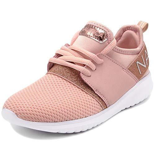 Nautica Kids Girls Fashion Sneaker Running Shoes-Kappil Girls-Rose Gold-1