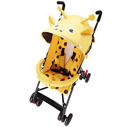 Cochecito de dibujos animados Silla de niño recién nacido Sistema de viaje desde el nacimiento hasta 25 kg Posición de mentira Pequeño plegable Ligero 4 ruedas Carrito de bebé Buggy