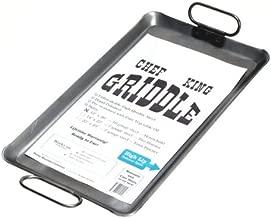 Chef King 10 Gauge Steel Griddle, 12 Inch x 20 Inch