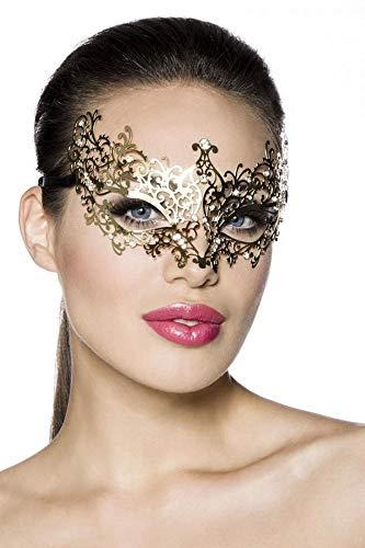 Atixo [number] metalen masker goud, grootte Atixo: OS