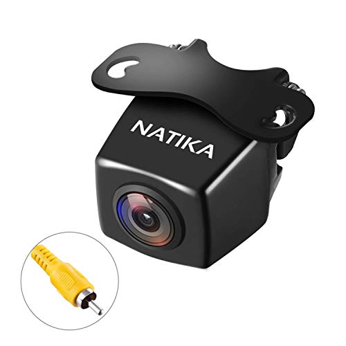 【Upgrade Version】 NATIKA Backup Camera, IP69K Waterproof Great Night Vision HD and Super Wide Angle Reverse Rear View Backup Camera for Cars Jeep Trucks SUV RV Van