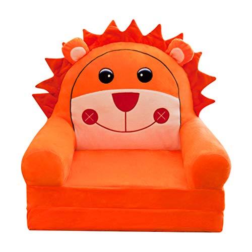 joyMerit Kindersessel Bezug abnehmbar waschbar Sofahusse Sesselbezug Sitzbezug Geschenk für Jungen Mädchen - Oranger Löwe