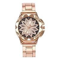 Harilla 女性のラインストーンの腕時計はオフィスの偶然のための偶然の水晶腕時計を見ます - ローズゴールドメッシュバンド