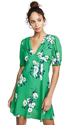 Free People Women's Neon Garden Mini Dress, Green, 6