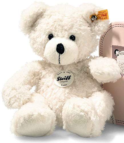 Steiff Lotte Teddy Bear in Suitcase (White)