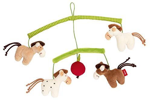 SIGIKID Mädchen und Jungen, Mobile Pferde Hangons, Babyspielzeug, empfohlen ab 0 Monaten, mehrfarbig, 42264