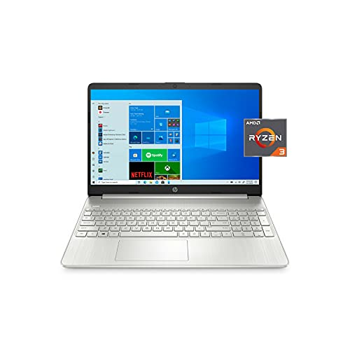 HP 15-ef1300wm 15.6' FHD, Ryzen 3-3250, 4GB RAM, 128GB SSD, Plata, Windows 10 S