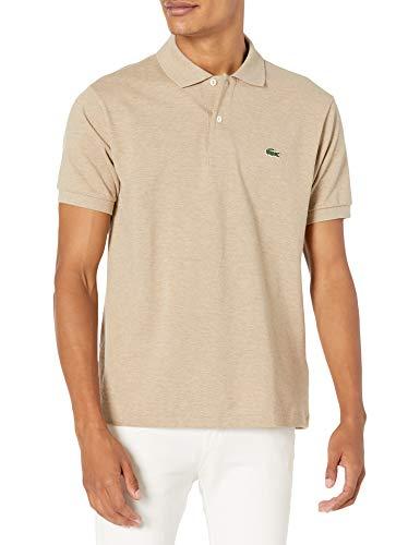 Lacoste Men's Short Sleeve Chine Pique Polo, Gravel Heather, X-Large
