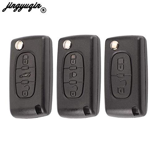 HCA / VA2 2/3 Botones Flip Remote Car Key Shell para Peugeot 207, 307, 407, 408, 308 para Citroen C2 C3 C4 C5 C6 C8 Xsara Picasso VA2Ce0523