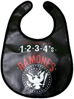 Kiditude Ramones Presidential Seal 1234 Baby Bib, Black