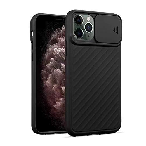 FOURTOC Funda para iPhone 11 11 Pro 11 Pro MAX Protección de La Cámara Delgado Ligera Resistente A Impactos Carcasa Anti-Golpes Anti-Arañazos Protectora Funda,Negro,XR