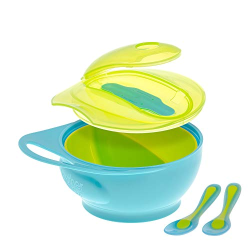 Find Cheap Brother Max Baby Feeding Bowl with Lid Set for Toddler, Baby Divided Bowl with Spoon, Eas...