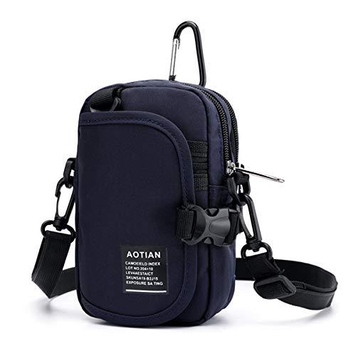 Slider Herren Damen Nylon Wasserdichte leichte Umhängetasche Hüfttasche, 1234590, violett
