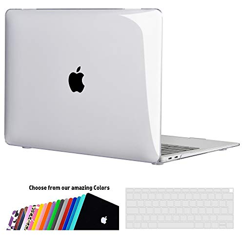iNeseon MacBook Air 13-inch Case Cover (A2179/A1932), Slim Hard Shell Protection Case + Keyboard Cover for 2020 2019 2018 MacBook Air 13 Retina with Touch ID, Crystal Clear