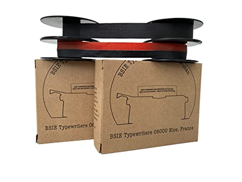 2 nastri Olivetti per macchina da scrivere – 1 nero e rosso + 1 nero