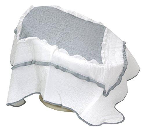 Linder Plaid boutis, Polyester, Gris/Blanc, 150x150 cm