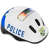 Spokey Fahrradhelm Kinder Radhelm verstellbare Größe | Kopfumfang 44-48/49-56 | Verschiedene Farbversionen (Policeman, 49-56)