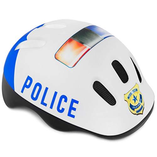 Spokey Fahrradhelm Kinder Radhelm verstellbare Größe | Kopfumfang 44-48/49-56 | Verschiedene Farbversionen (Policeman, 44-48)