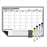 FDSJKD Planificador Set de la Oficina Semana de la Oficina y el Mes Netic Mensaje Tablero Pequeña Pizarra Pegatina Sticker Soft Whiteboard (Color : Black)