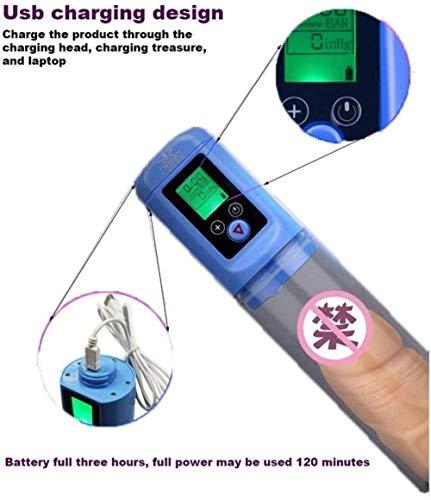 Shcro Elektrische Männer S Hochvakuum Penǐs Pumpe Luftdruckeinstellung Gerät Mit Sleeves USB Aufladbare Erhöhen Sie Die Größe Und Stärke Penǐsgrowth Pump Elektro