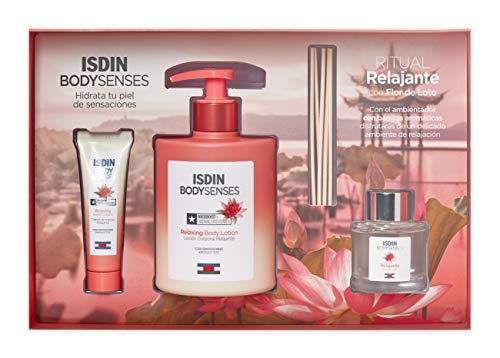 Isdin BodySenses RITUAL RELAJANTE con Flor de Loto: Loción Corporal 500ml + Crema de manos 30ml + Obsequio Ambientador con barritas aromáticas