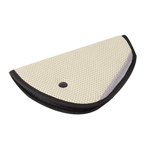 DDyna Cinturón de Seguridad Ligero para automóvil para niños Protector de cinturón de Seguridad Ajustable a Prueba de niños Afeitado Cinturón de Seguridad para automóvil para bebés - Beige