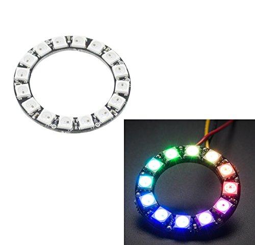 Aihasd 16 Bits 16 X WS2812B Modul WS2812 5050 RGB LED Ring Lampe Licht Mit integrierten Treibern Für Arduino Raspberry Pi