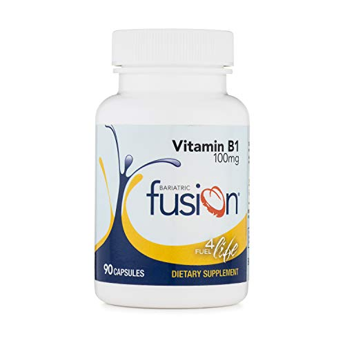 Bariatric Fusion Vitamin B1 for Bariatric Surgery Patients Including Gastric Bypass & Sleeve Gastrectomy, Easy to Swallow Capsule, 90 Count