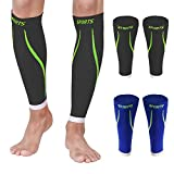 Men Calf Compression Sleeves Sports Socks for Shin Support Relief Leg Varicose 2 Pairs 15-20mmHg Breathable Brace Medical Wrap