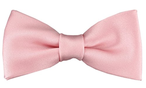 TigerTie Kleinkinder Baby Fliege in rosa mit Gummizug 29 bis 40 cm Halsumfang verstellbar + Aufbewahrungsbox