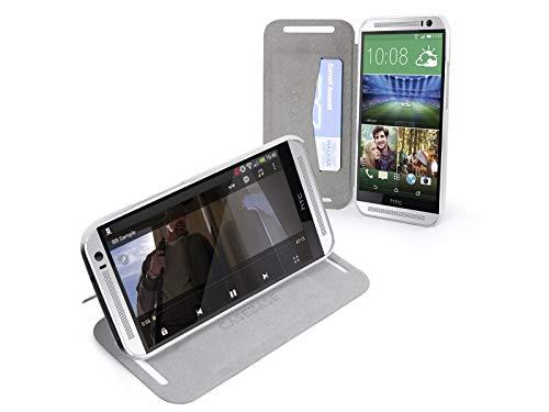 Custodia supporto CaseBase di pelle bianca per HTC One 2(M8) UltraSlim