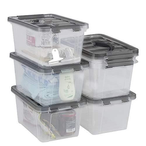 Gitany 6L Aufbewahrungsboxen, 6er Pack Aufbewahrungsbehälter mit Deckel, Kunststoffboxen Set
