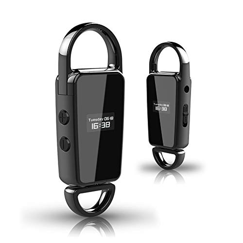 32GB Keychain Voice Recorder Mini MP3 Voice Audio Recorder with Noise Reduction and Voice Activated Recorder with 28 Hours Recording Time HD Audio Digital Voice Recorder for Lectures/Interview/Meeting