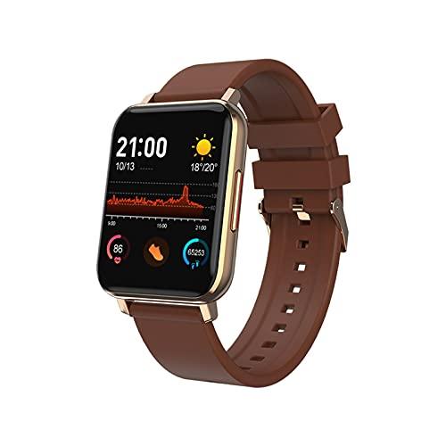PYAIXF Reloj Inteligente, 1,59 Pulgadas Smart Watch Fitness Tracker Relojes para Hombres Y Mujeres Contador De Calorias Control De La Música Llamada Bluetooth por Regalo De Cumpleaños-Brown
