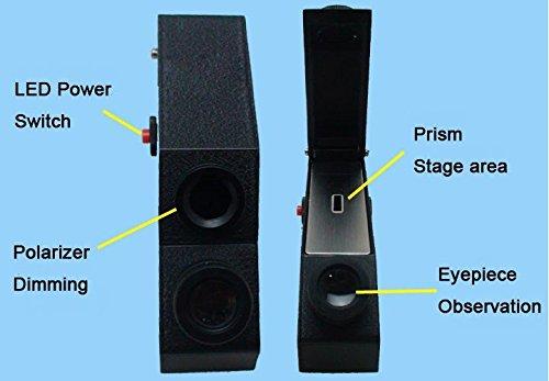 Gowe integriertes LED-Licht Tragbar Gem gemmologischen Mineralogie Refraktometer mit Geschenk-Box