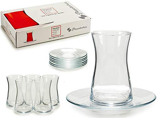 TU TENDENCIA ÚNICA Juego de 6 Vasos de Cristal de 160 CC para Infusiones, Té o Café. Muy Resistentes