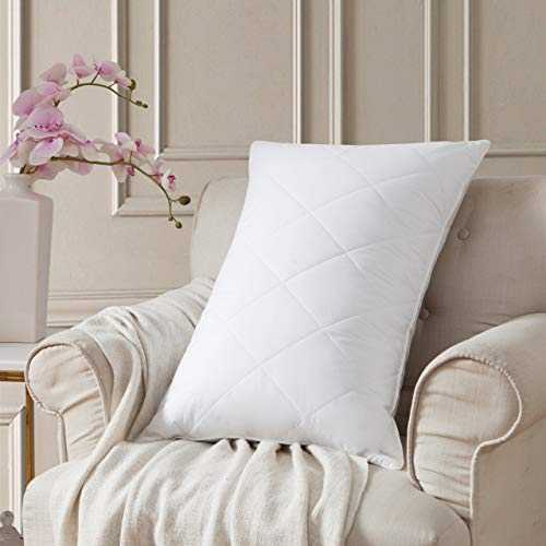 L LOVSOUL Goose Feather Bed Pillows for Sleeping Medium Firm Feather Pillows Queen Size 100%...