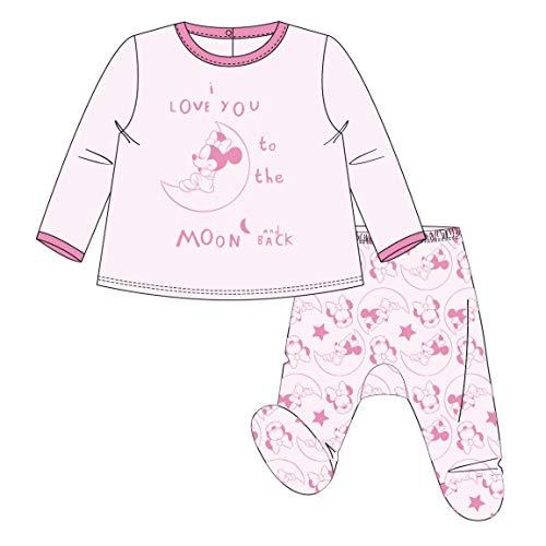 Artesania Cerda Polaina Interlock Minnie Pelele, Rosa (Rosa C07), 0m para Bebés