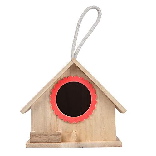 Rameng Boîte de Nid d'oiseaux Nichoir Maison d'oiseaux Perroquet en Bois Bird House Wood à Suspendre
