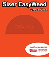 Siser EasyWeed アイロン接着 熱転写ビニール - 12インチ 1 Foot オレンジ HTV4USEW12x12IN