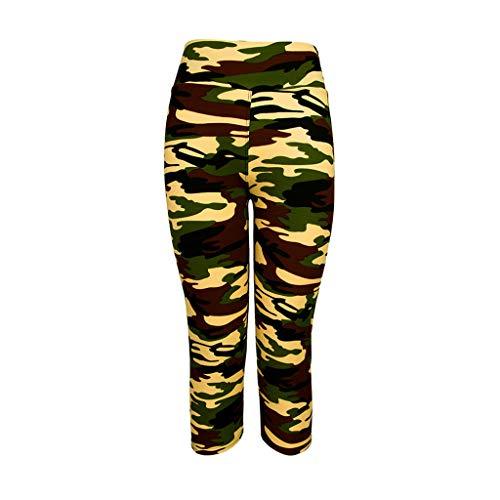 KUKICAT Damen Laufhose Sporthose Sport Leggings Tights Elastische Gamaschen mit hoher Taille und laufender Fitness-Yogahose mit kurzen Hosen