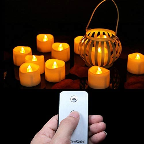 LUBINGT Candle Pack of 12 or Over item handling 24 Battery Remo Votive with Candles Max 58% OFF
