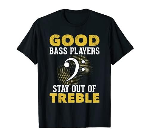 Gracioso bajista bajista música clave de faena Camiseta