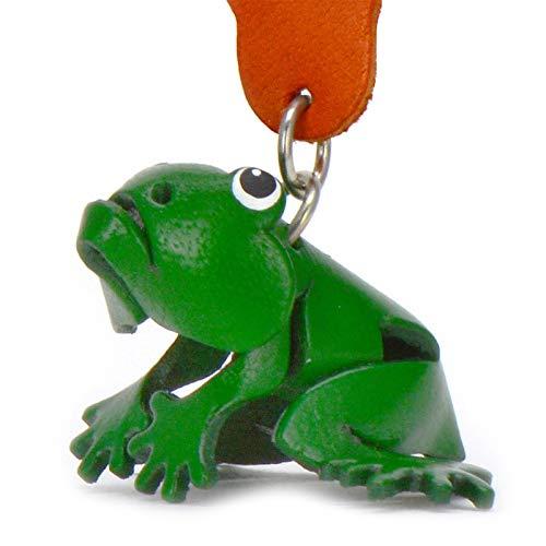 Monkimau Schlüsselanhänger Frosch Figur aus Leder